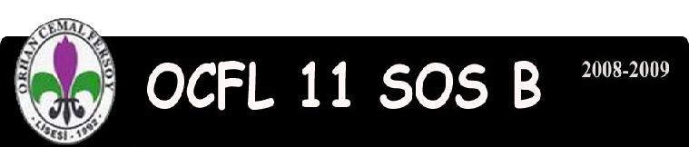 OCFL 11 SOS B SINIFI 2008-2009 YILI LİSE 3 ÖDEVLERİ ARKADAŞLAR HOCALAR DERSLER ARAŞTIRMALAR...