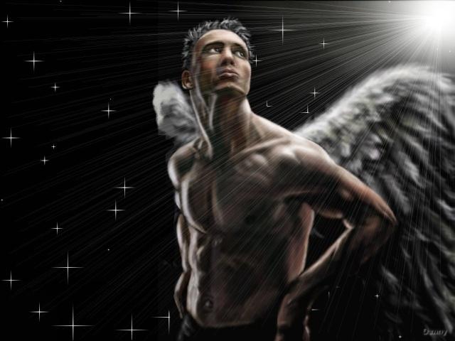 dans fond ecran ange noir male10