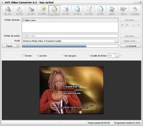 AVS Video converter 6 preview 1