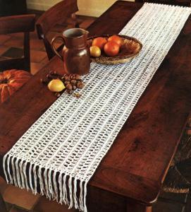 Le tricot la fourche une autre fa on de crocheter for Chemin de table crochet