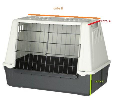 cage de transport pour chien ferplast. Black Bedroom Furniture Sets. Home Design Ideas