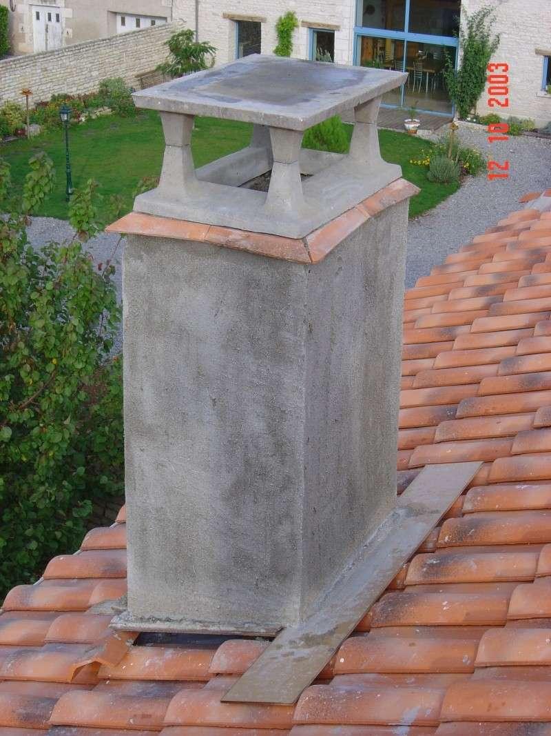 Manque de tirage dans une chemin e - Chapeau de cheminee en beton ...