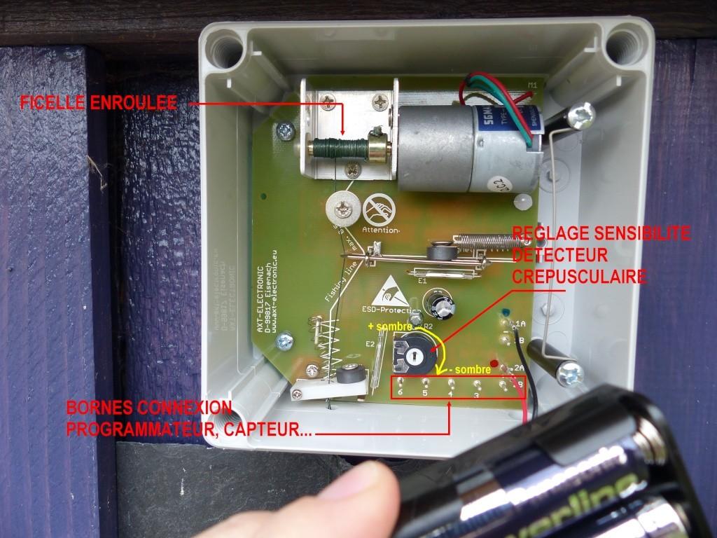 portier électronique pour poulailler