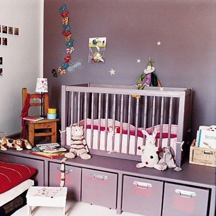 Le classique peinture pour chambre de b b fille for Couleur violet pour chambre