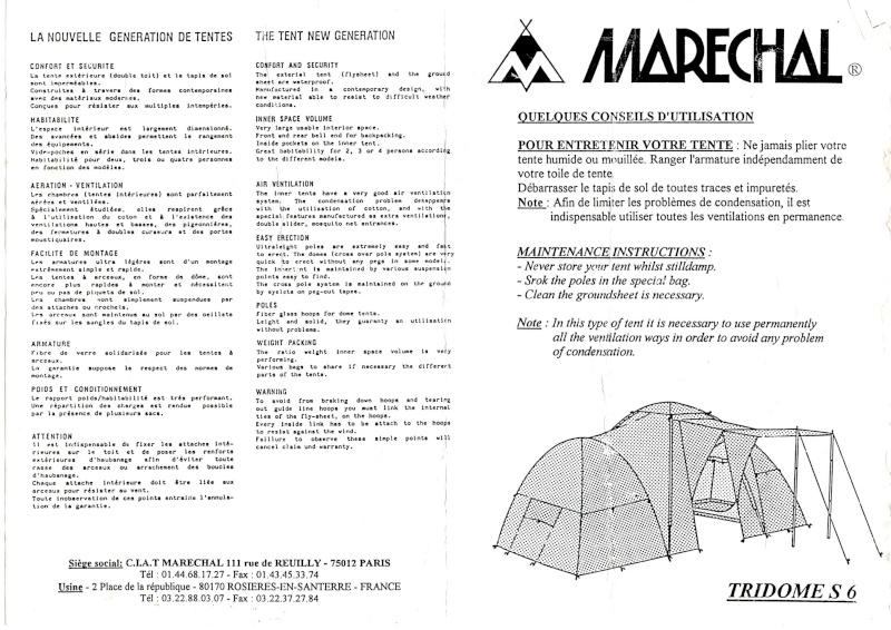 infos sur notice de montage tente marechal dome 4 vacances arts guides voyages. Black Bedroom Furniture Sets. Home Design Ideas