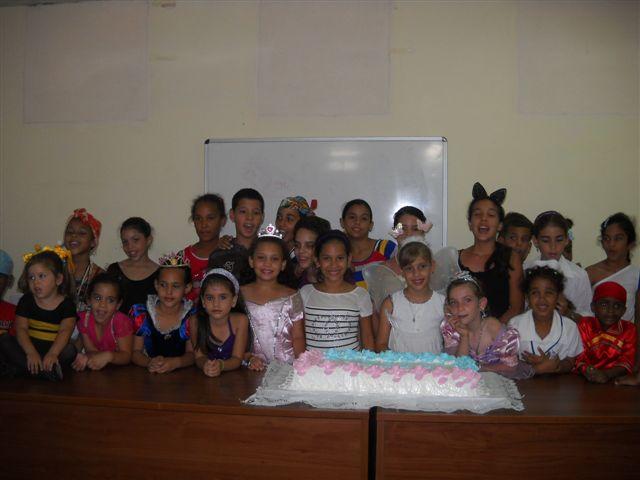 Participantes en la Convivencia para niños con Diabetes