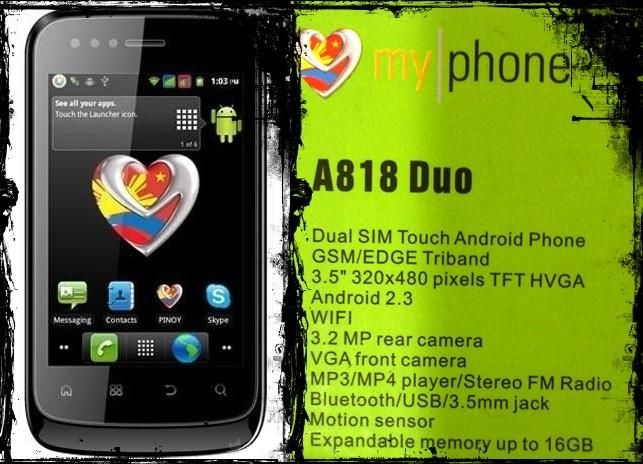 MyphoneA818Duo™